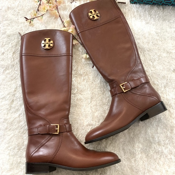 dce883a7f6f3 NEW Tory Burch Adeline Riding Boots Almond. M 5bd792cb6197455608e7527b